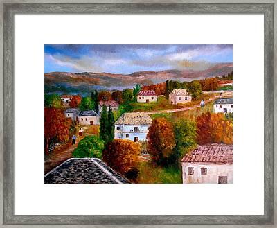 Autumn In Greece Framed Print