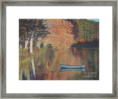 Autumn In Hamburg Cove Framed Print by Cindy Lee Longhini