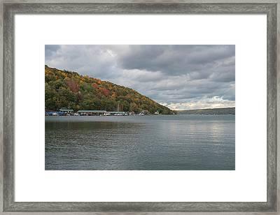 Autumn In Hammondsport Framed Print