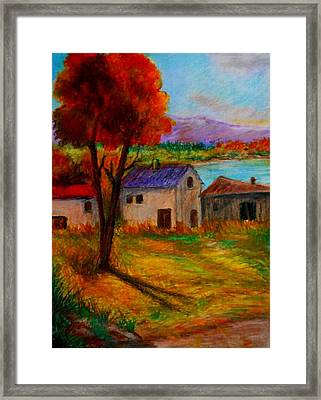 Autumn In Lake Prespa Framed Print