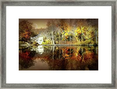 Autumn In Larchmont Framed Print
