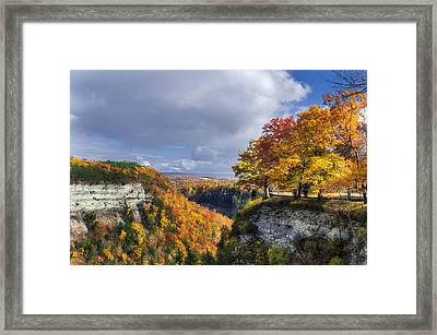 Autumn In Letchworth Framed Print