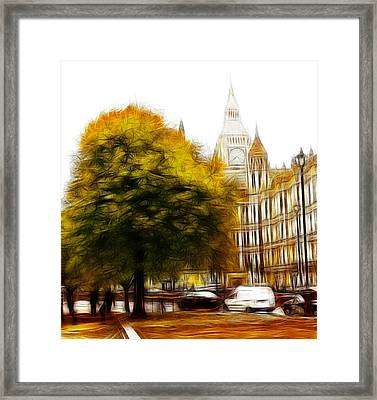 Autumn In London Framed Print by Steve K
