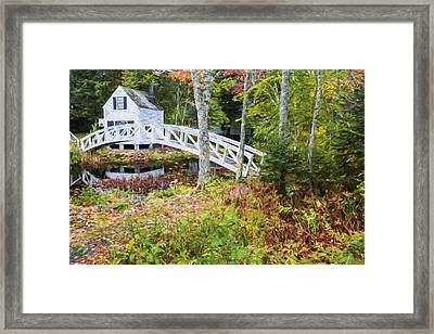 Autumn In Maine Framed Print by Jon Glaser