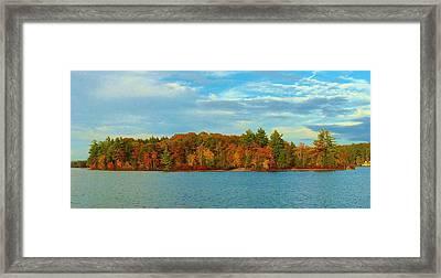 Autumn In Maine Framed Print
