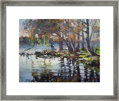Autumn In Marines Memorial Park Framed Print by Ylli Haruni