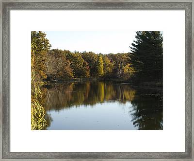 Autumn In Mears Michigan Framed Print