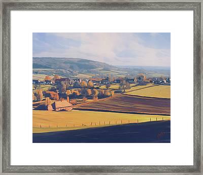 Autumn In Mechelen Framed Print