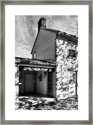 Autumn In Metamora 2 Bw Framed Print by Mel Steinhauer