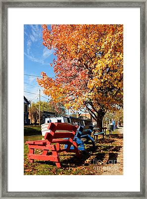 Autumn In Metamora Indiana Framed Print by Mel Steinhauer