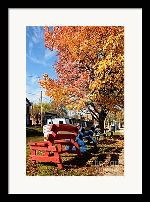 Southern Indiana Autumn Framed Prints