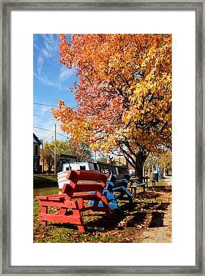 Autumn In Metamora Indiana Framed Print by Tri State Art
