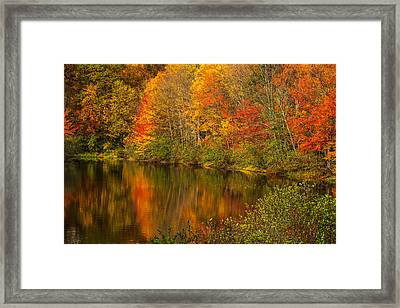 Autumn In Monroe Framed Print by Karol Livote