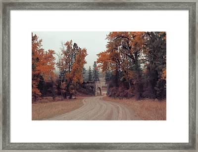 Autumn In Montana Framed Print by Cathy Anderson