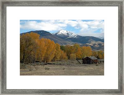 Autumn In Montana's Madison Valley Framed Print by Bruce Gourley