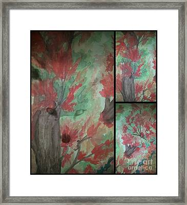 Autumn In My Soul Triptych Framed Print by Maria Urso