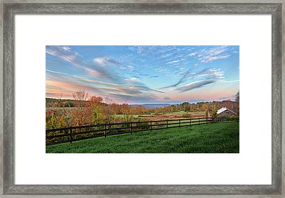 Connecticut Country Autumn Framed Print