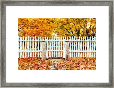 Autumn In New England Framed Print by Edward Fielding