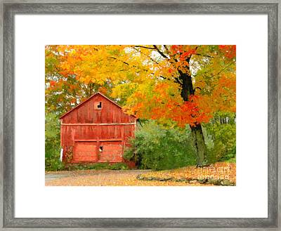 Autumn In New England Framed Print by Michael Petrizzo