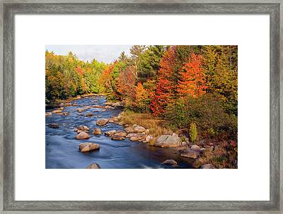 Autumn In New Hampshire Framed Print