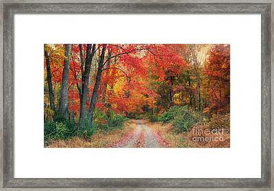 Autumn In New Jersey Framed Print