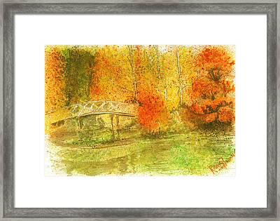 Autumn Landscape Painting  Framed Print by Remy Francis