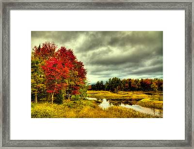 Autumn In Old Forge Framed Print by David Patterson