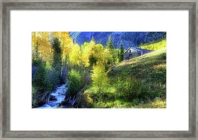 Framed Print featuring the photograph Autumn In Ophir - Colorado - Aspens by Jason Politte