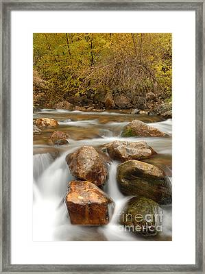 Autumn In Provo Canyon Framed Print by Dennis Hammer