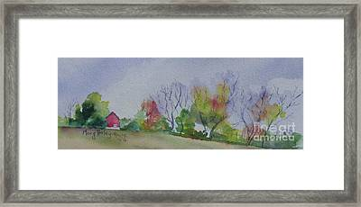 Framed Print featuring the painting Autumn In Rural Ohio by Mary Haley-Rocks