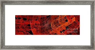 Autumn In Space Abstract Pano 1 Framed Print by Andee Design