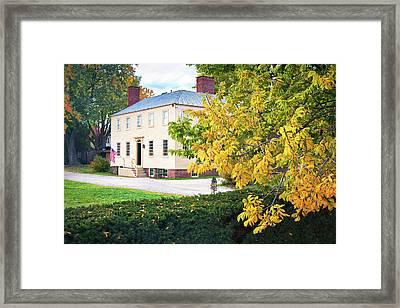 Autumn In Strawbery Banke Framed Print