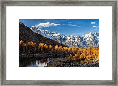Autumn In The Alps Framed Print by Alfredo Costanzo