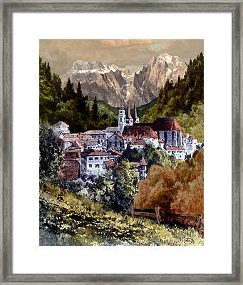 Autumn In The Alps Framed Print