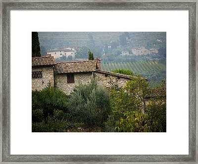 Autumn In The Chianti Region Framed Print by Rae Tucker