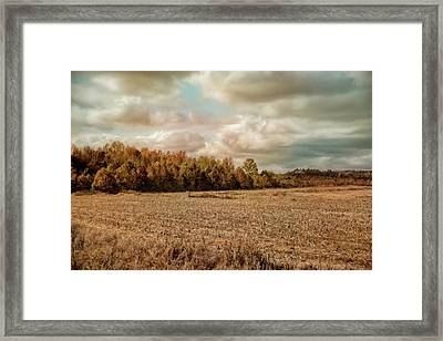 Autumn In The Country Landscape Scene Framed Print
