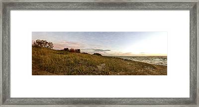 Framed Print featuring the photograph Autumn In The Dunes by Michelle Calkins