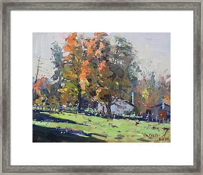 Autumn In The Farm Framed Print
