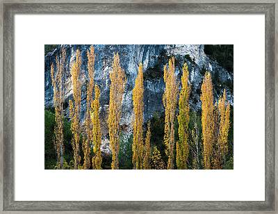 Autumn In The Hoz Del Escabas Gorge. In The Serrania De Cuenca, Spain - 1 Framed Print by Peter Eastland