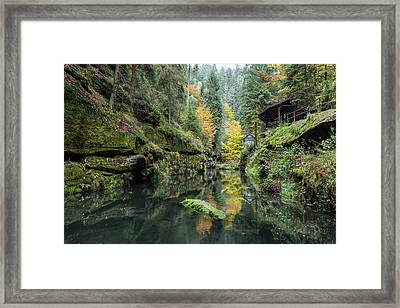 Autumn In The Kamnitz Gorge Framed Print