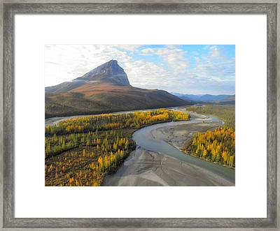 Framed Print featuring the photograph Autumn In The Koyukuk River Valley by Adam Owen