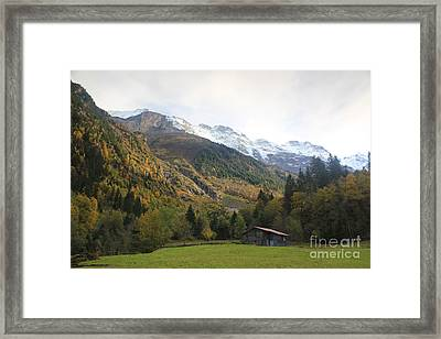 Autumn In The Lauterbrunnen Valley, Switzerland Framed Print