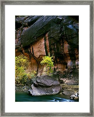 Autumn In The Narrows Framed Print by Edward Mendes