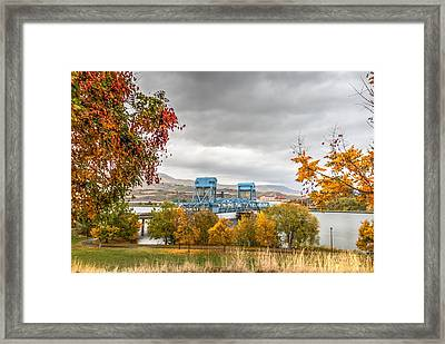 Autumn In The Park Framed Print by Brad Stinson