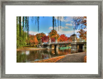 Autumn In The Public Garden - Boston Framed Print