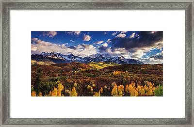 Framed Print featuring the photograph Autumn In The Rockies by Andrew Soundarajan