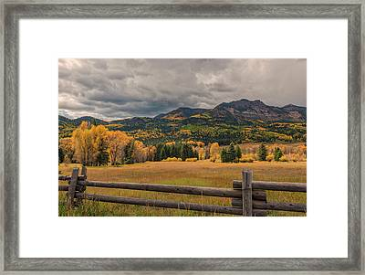 Autumn In The San Juan River Valley Framed Print by Loree Johnson