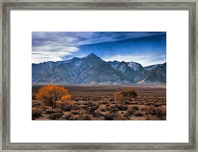 Autumn In The Sierra Mountains Framed Print
