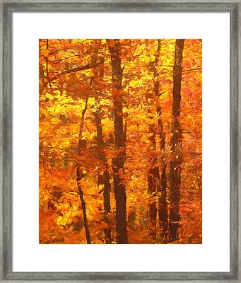 Autumn In The Style Of Van Gogh Framed Print