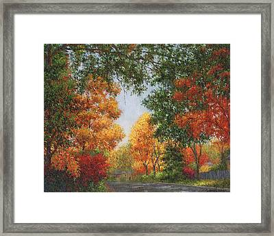 Autumn In The Suburbs Framed Print by Susan Savad